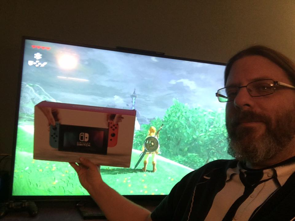 Really Big Nintendo Switch Winner showing off!
